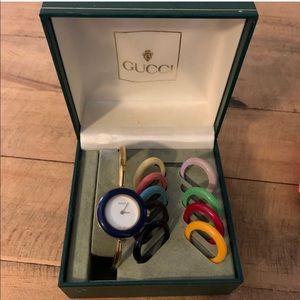 [GUCCI] Vintage Gold Round Bezel Watch